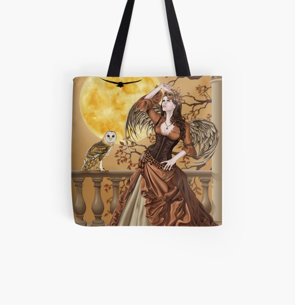 Owl Fairy Angel Masquerade Ball All Over Print Tote Bag
