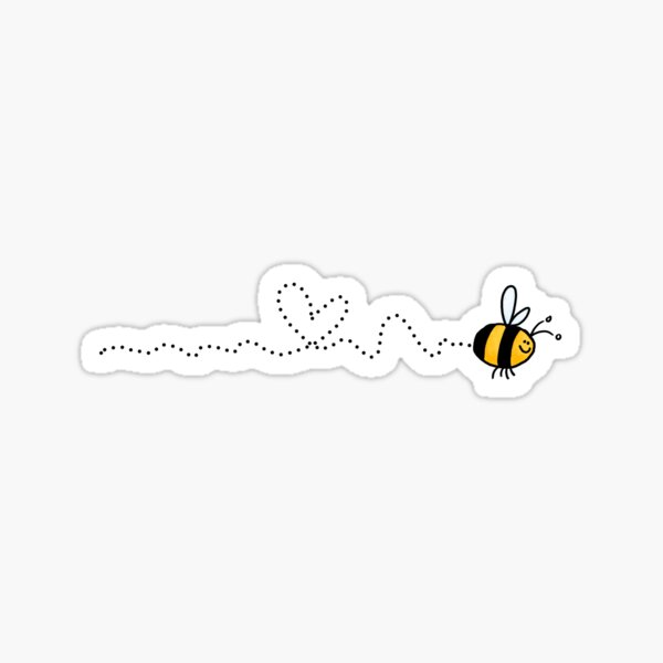 bee love trail Sticker
