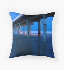 Southport Spit Sand Pumping Jetty  Throw Pillow