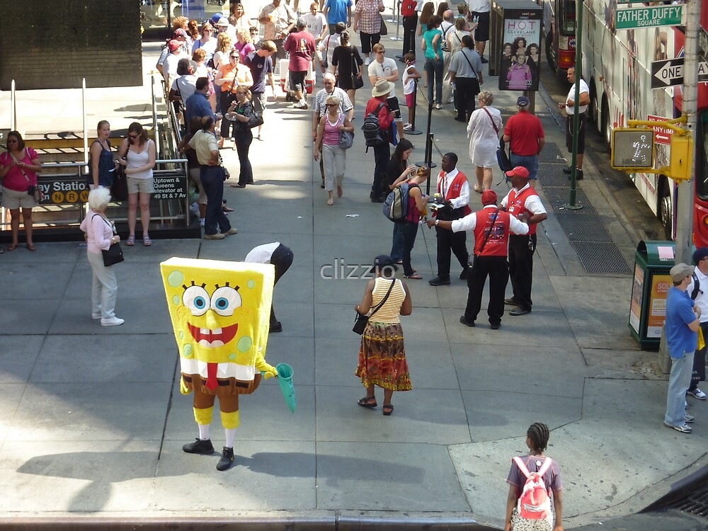 Sponge Bob Square Pants Visits New York  by clizzio