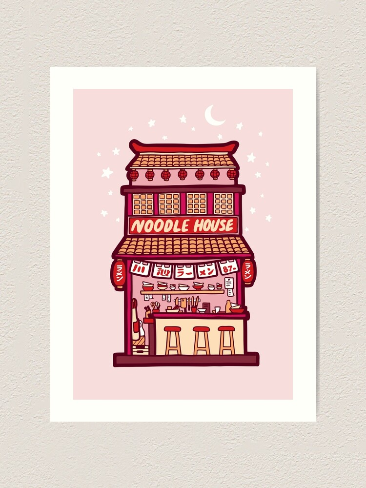 Alternate view of Noodle House Art Print