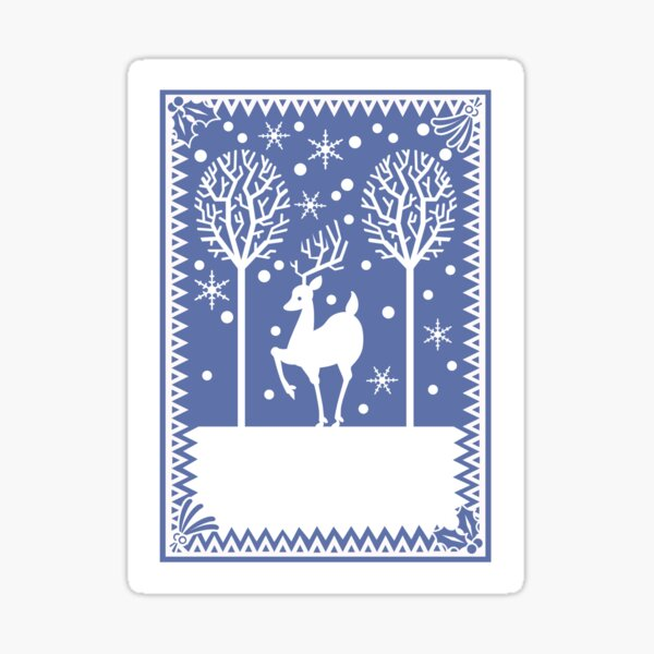Stag in the forest Sticker