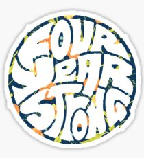 Four Year Strong Floral 1 Sticker