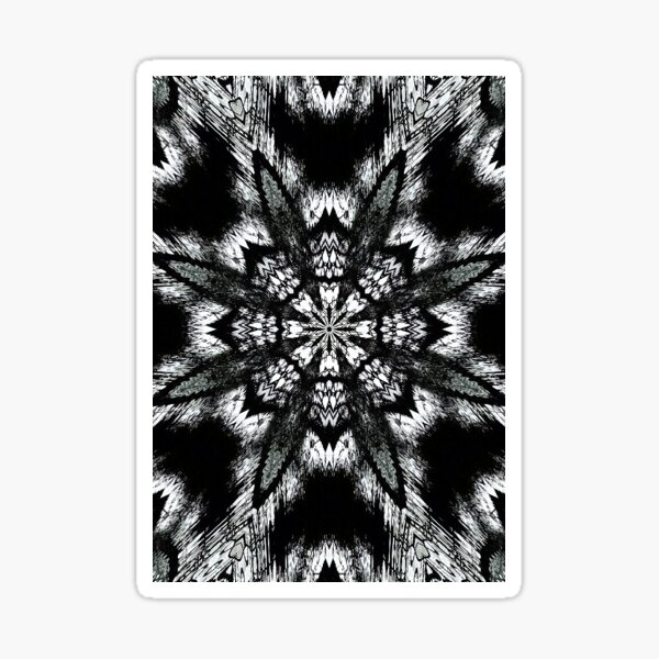 Black and White Winter Abstract Sticker