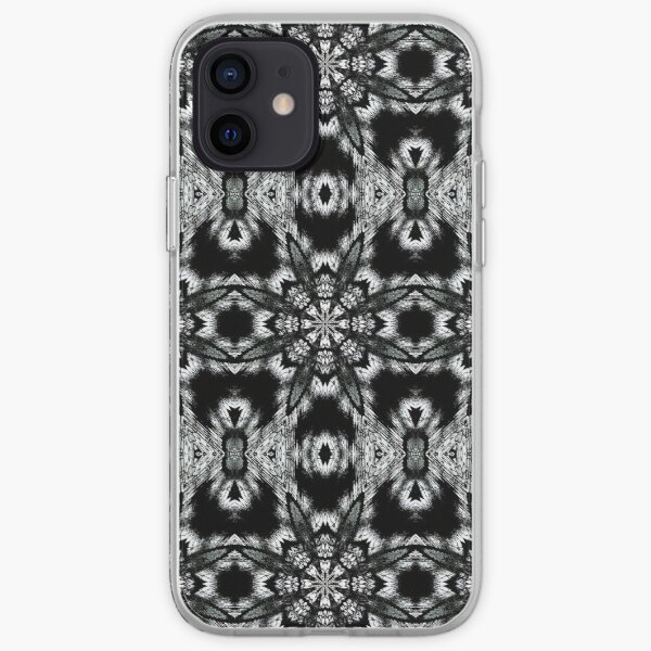 Black and White Winter Abstract iPhone Soft Case