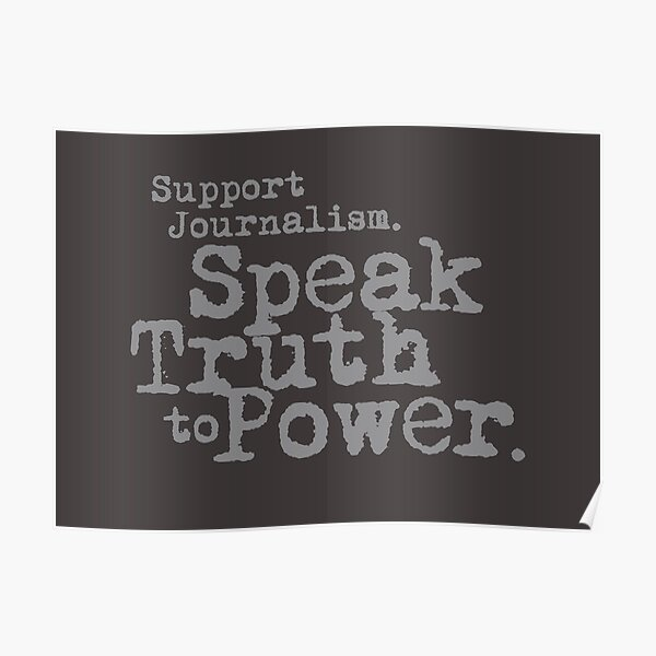 Support Journalism Poster