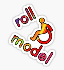 Roll Model - Disability Tees - in bright colours Sticker