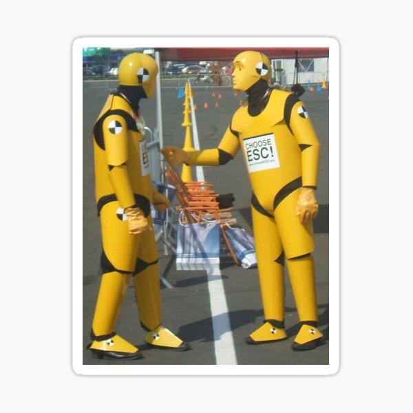 Crash test dummies Sticker