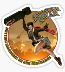 Bomber Dear - Putting Warheads on Axis Foreheads Sticker