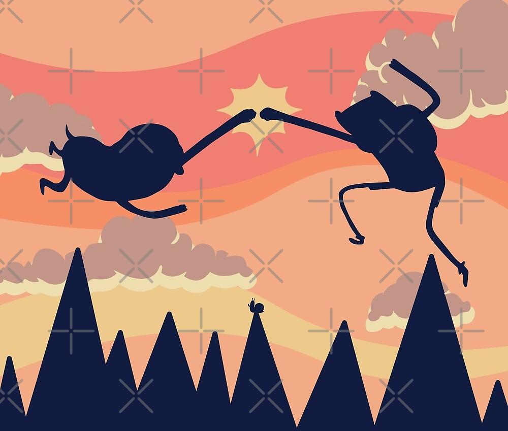 Epic Fist Bump! (Adventure Time) by Ashley Castleton