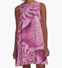 Pink Confetti - Psychedelic Digital Art A-Line Dress