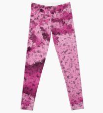Pink Confetti - Psychedelic Digital Art Leggings