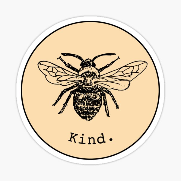 Bee kind (light yellow/orange) Sticker