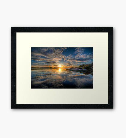 Sunset Reflect 1 Framed Print