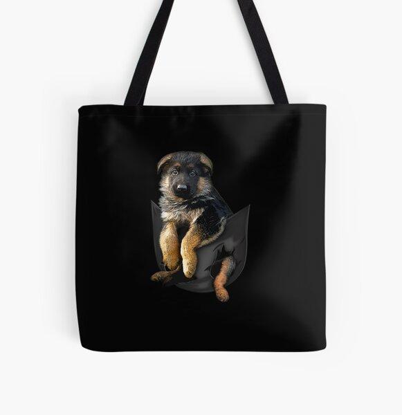 Christmas German Shepherd Shoulder Shopping Tote Bag