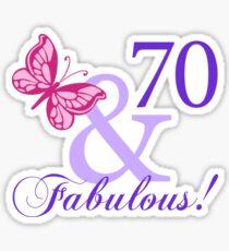 Fabulous 70th Birthday Sticker