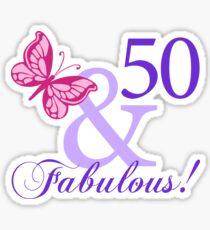 Fabulous 50th Birthday Sticker
