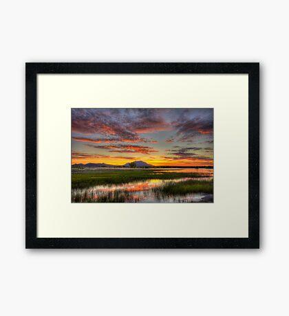 Yada, Yada, Sunset Framed Print