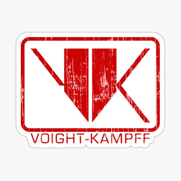 Voight-Kampff Distressed Sticker