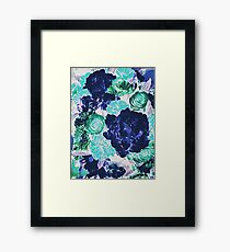 Bouquet in Blue - Floral Art - Flower Lovers Gift Framed Print