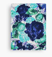 Bouquet in Blue - Floral Art - Flower Lovers Gift Canvas Print