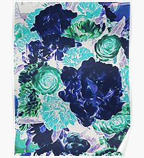 Bouquet in Blue - Floral Art - Flower Lovers Gift Poster