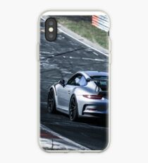 Porsche GT3.RS (991) on the Nürburgring Nordschleife iPhone Case