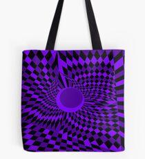 Purple Twister Tote Bag