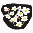 Black and white flowers T SHIRT by Shoshonan