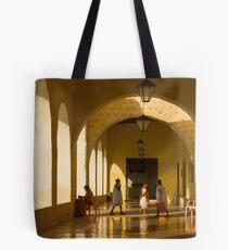 Valladolid Church Arcade Tote Bag