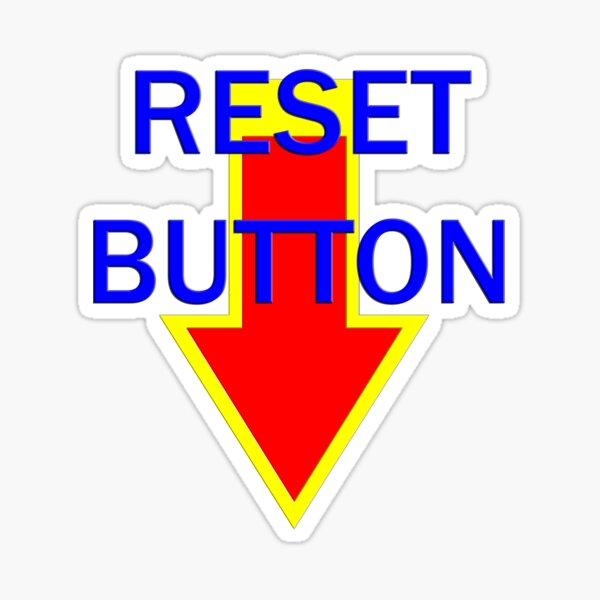 reset button Sticker