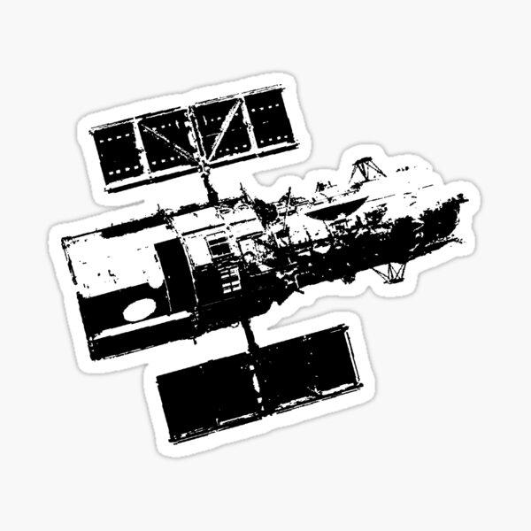 Hubble Satellite Sticker