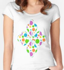 Colorful Polka Dots Women's Fitted Scoop T-Shirt