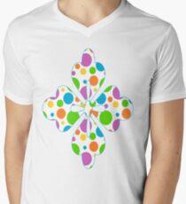 Colorful Polka Dots Men's V-Neck T-Shirt