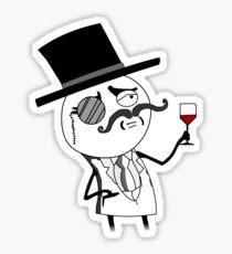 Monocle Guy Meme (Lulzsec) Sticker