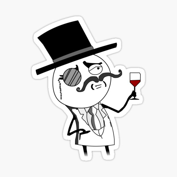 Monocle Guy Meme (Lulzsec) Sticker