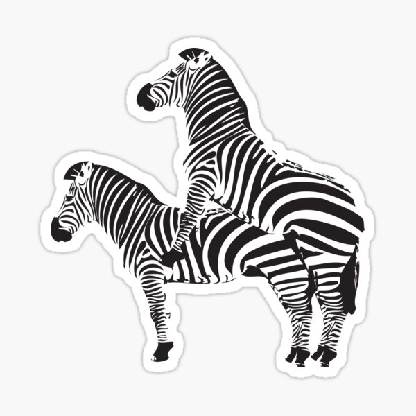 Funny Shirt - Two Headed Zebra Sticker