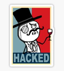 Hacked by LulzSec Sticker