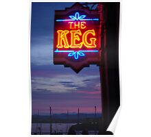 Sunset at The Keg Poster