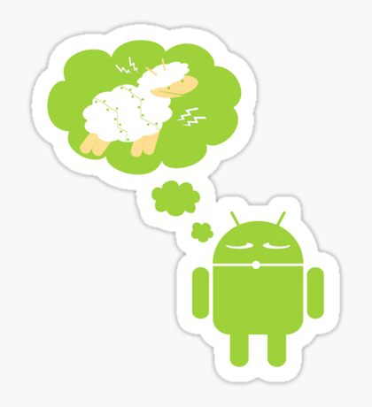 DROID Dreaming of an Electric Sheep (iron-on look) Sticker