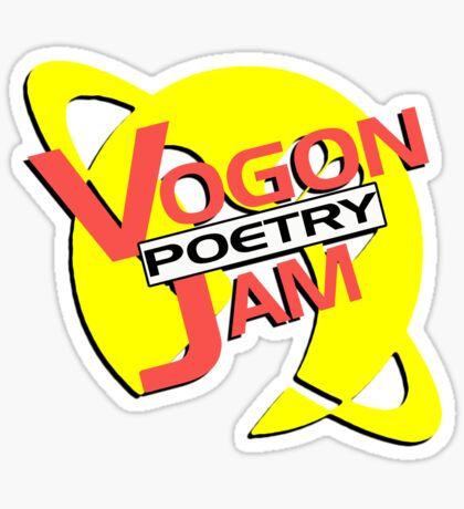 Vogon Poetry Jam (just logo) Sticker