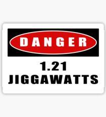 Pegatina ADVERTENCIA: 1.21 Jiggawatts!
