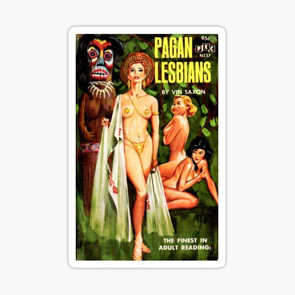 Pagan Lesbian Vintage Lurid Bookcover Sticker