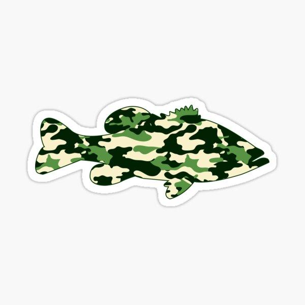 Camo Bass  Sticker