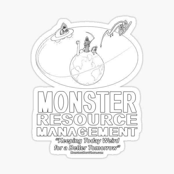 Monster Resource Management Sticker