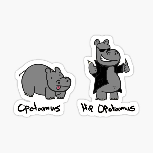 Hip Opotamus Sticker