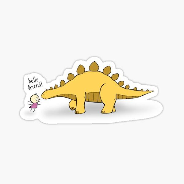 Hello Friend (Dinosaur) - two lof bees Sticker