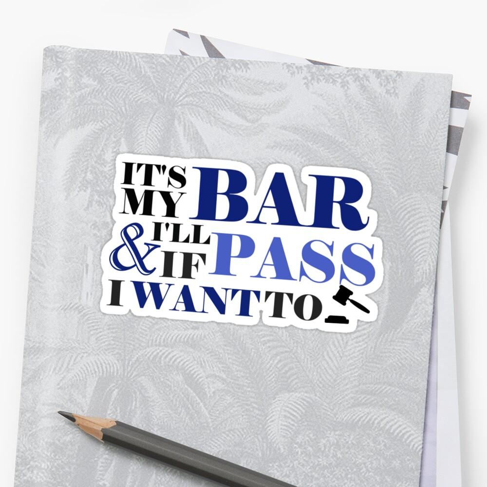 Rockin' the Bar! Sticker