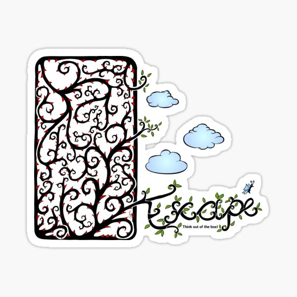 Escape (for light t-shirt colours) Sticker