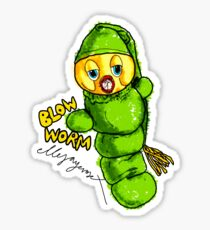 Blow Worm Sticker